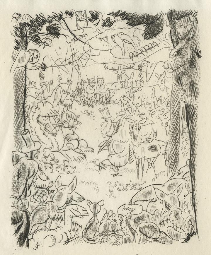 BOFA Gus (Gustave BLANCHOT, dit), Les animaux malades de la peste © Adagp, Paris, 1928