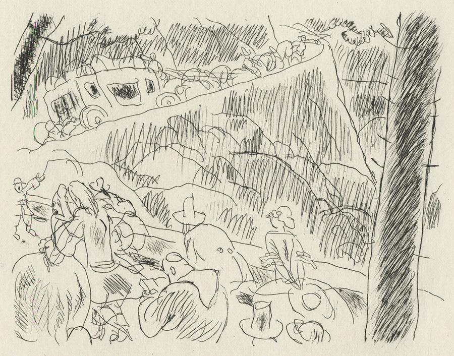 BOFA Gus (Gustave BLANCHOT, dit), Le coche et la mouche © Adagp, Paris, 1928