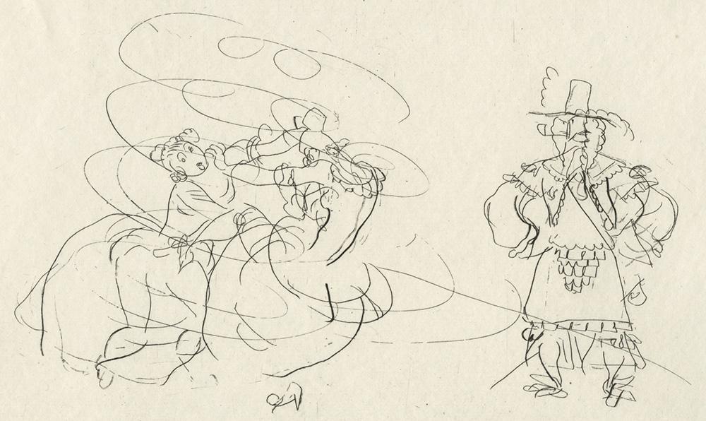 BOFA Gus (Gustave BLANCHOT, dit), Les deux coqs © Adagp, Paris, 1928