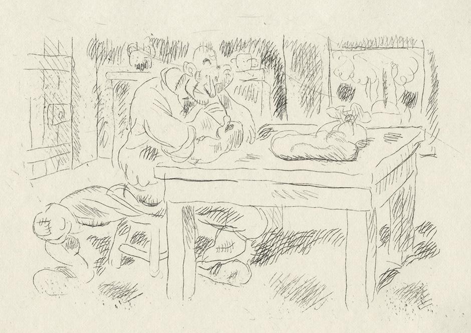 BOFA Gus (Gustave BLANCHOT, dit), L'homme et la couleuvre © Adagp, Paris, 1928