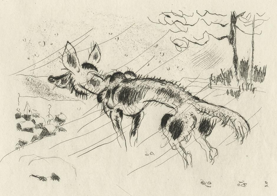BOFA Gus (Gustave BLANCHOT, dit), Le loup et le chien © Adagp, Paris, 1928