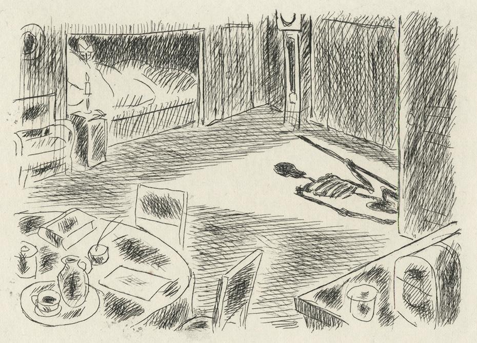 BOFA Gus (Gustave BLANCHOT, dit), La Mort et le mourant © Adagp, Paris, 1928