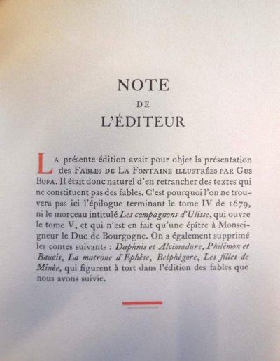 Les Fables de La Fontaine illustrées par Gus Bofa