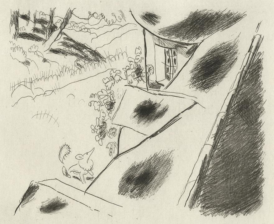 BOFA Gus (Gustave BLANCHOT, dit), Le renard et les raisins © Adagp, Paris, 1928