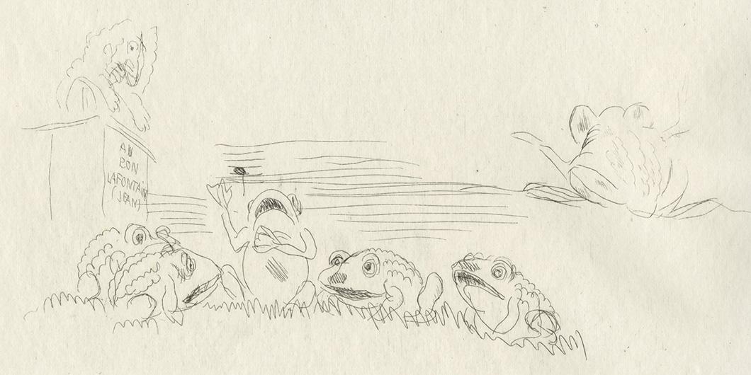 BOFA Gus (Gustave BLANCHOT, dit), Le serpent et la lime © Adagp, Paris, 1928