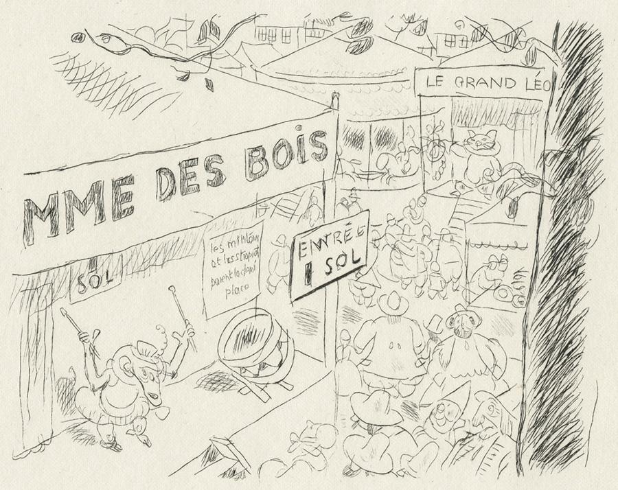 BOFA Gus (Gustave BLANCHOT, dit), Le singe et le léopard © Adagp, Paris, 1928